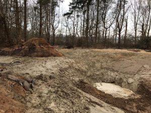 Vijver graven en bekleden met leem